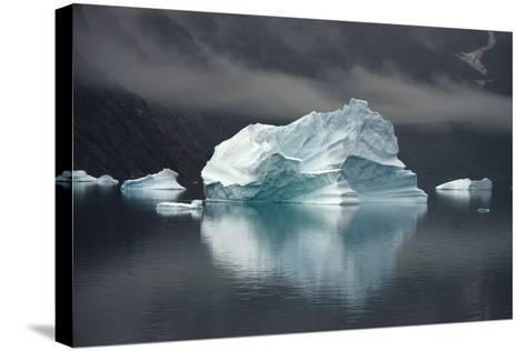 Large Icebergs in Scoresby Sound, Greenland-Raul Touzon-Stretched Canvas Print