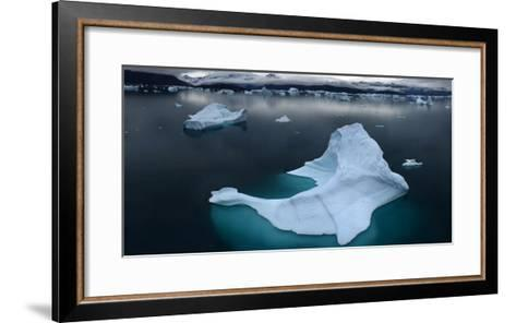 Ice Floe Floating in Scoresby Sound, Greenland-Raul Touzon-Framed Art Print
