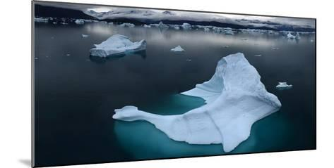 Ice Floe Floating in Scoresby Sound, Greenland-Raul Touzon-Mounted Photographic Print