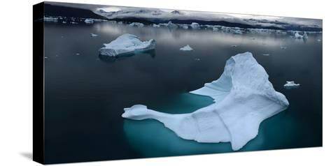 Ice Floe Floating in Scoresby Sound, Greenland-Raul Touzon-Stretched Canvas Print
