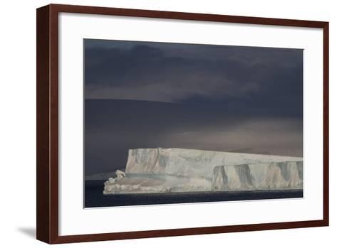 An Iceberg Illuminated by Early Morning Light Near the Antarctica Peninsula-David Griffin-Framed Art Print