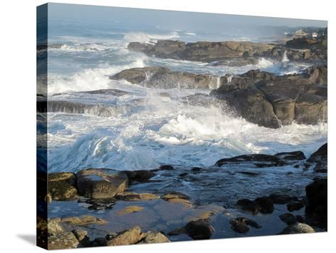 Waves Crashing on the Shoreline of Tillamook-Nicole Duplaix-Stretched Canvas Print