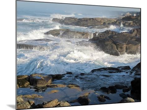 Waves Crashing on the Shoreline of Tillamook-Nicole Duplaix-Mounted Photographic Print