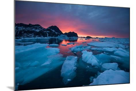 Breaking Ice at Sunrise-Andy Mann-Mounted Photographic Print