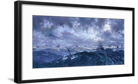 Rough Weather in January Brings Up the Sailfish Off Palm Beach-Mike Rivken-Framed Art Print