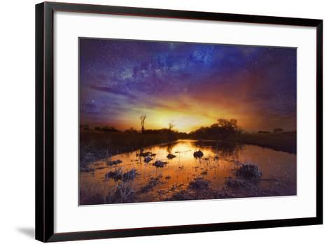 Dramatic Sky with Milky Way-Matthew Hood-Framed Art Print