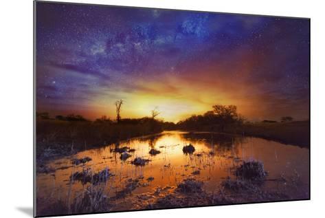 Dramatic Sky with Milky Way-Matthew Hood-Mounted Photographic Print