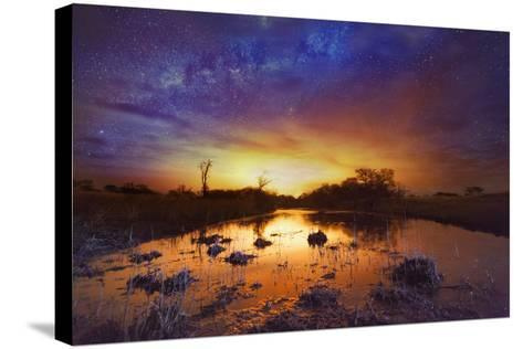 Dramatic Sky with Milky Way-Matthew Hood-Stretched Canvas Print