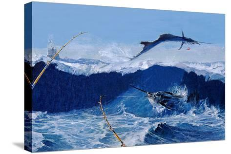 Sailfish are Everywhere During the Legendary Masters Tournament Off Palm Beach in January-Mike Rivken-Stretched Canvas Print