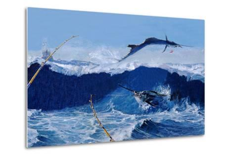 Sailfish are Everywhere During the Legendary Masters Tournament Off Palm Beach in January-Mike Rivken-Metal Print
