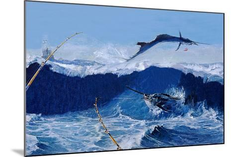 Sailfish are Everywhere During the Legendary Masters Tournament Off Palm Beach in January-Mike Rivken-Mounted Photographic Print