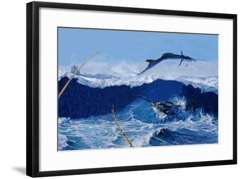 Sailfish are Everywhere During the Legendary Masters Tournament Off Palm Beach in January-Mike Rivken-Framed Art Print