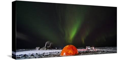Aurora Borealis in the Sky Above a Planetarium in Iceland-Chad Copeland-Stretched Canvas Print