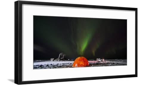 Aurora Borealis in the Sky Above a Planetarium in Iceland-Chad Copeland-Framed Art Print