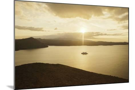 A Passenger Expedition Ship Cruises the Galapagos Islands-Jad Davenport-Mounted Photographic Print