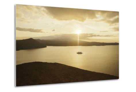 A Passenger Expedition Ship Cruises the Galapagos Islands-Jad Davenport-Metal Print