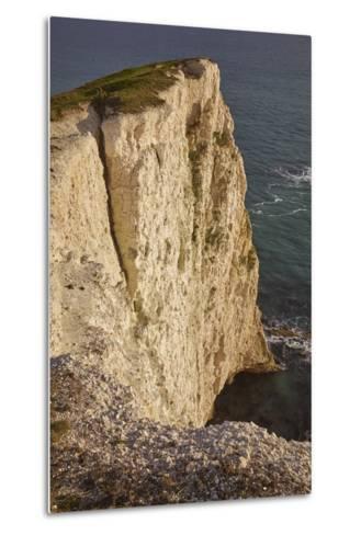 The Vertical Chalk Cliffs Near Durdle Door, in the Jurassic Coast World Heritage Site-Nigel Hicks-Metal Print