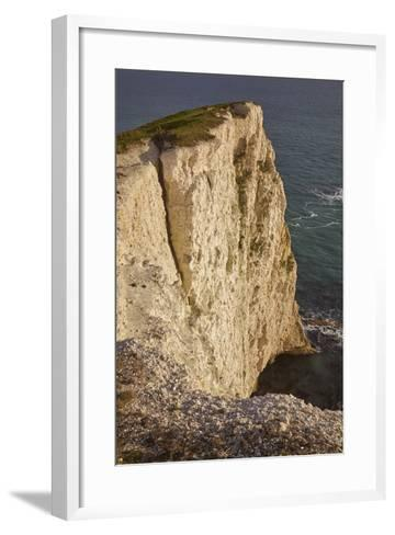 The Vertical Chalk Cliffs Near Durdle Door, in the Jurassic Coast World Heritage Site-Nigel Hicks-Framed Art Print