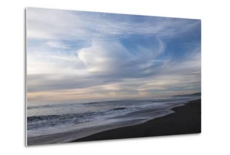 Sunset on Gold Bluffs Beach at Prairie Creek Redwoods State Park-Krista Rossow-Metal Print
