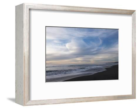 Sunset on Gold Bluffs Beach at Prairie Creek Redwoods State Park-Krista Rossow-Framed Art Print