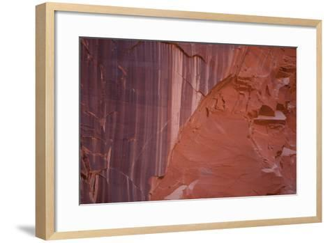 Sandstone Wall in Paria Canyon, Arizona-John Burcham-Framed Art Print