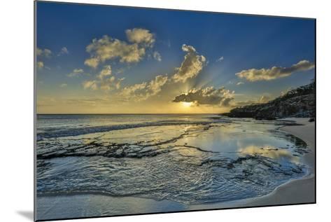 A Tidal Shelf on Kawakiu Nui Beach on Molokai's West End-Richard A^ Cooke-Mounted Photographic Print
