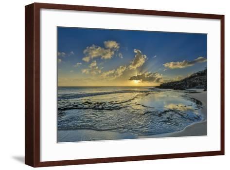 A Tidal Shelf on Kawakiu Nui Beach on Molokai's West End-Richard A^ Cooke-Framed Art Print
