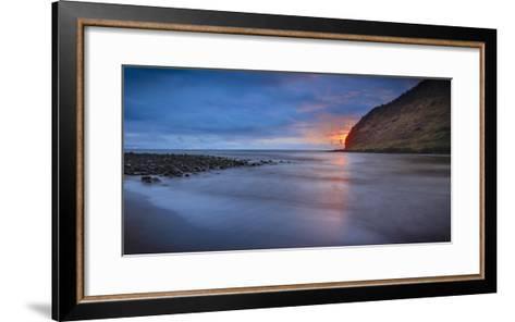 Panoramic of Halawa Beach on Molokai's East End-Richard A^ Cooke-Framed Art Print