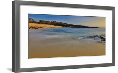 Kawakiu Nui Beach on Molokai's West End-Richard A^ Cooke-Framed Art Print