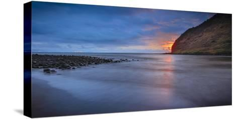 Panoramic of Halawa Beach on Molokai's East End-Richard A^ Cooke-Stretched Canvas Print