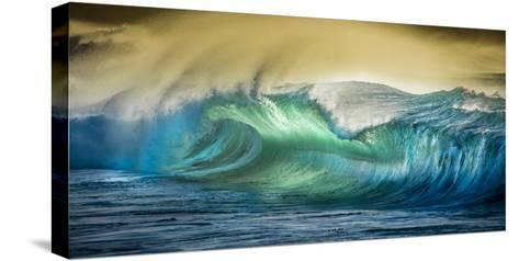 A Wave Breaks at Papohaku Beach on Molokai's West End-Richard A^ Cooke-Stretched Canvas Print