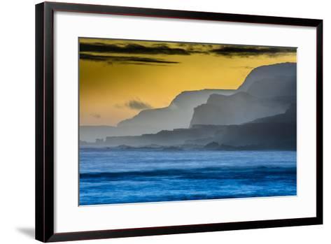 Molokai's North Shore Sea Cliffs at Sunrise-Richard A^ Cooke-Framed Art Print