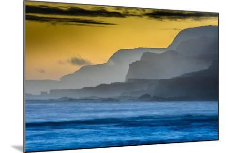 Molokai's North Shore Sea Cliffs at Sunrise-Richard A^ Cooke-Mounted Photographic Print