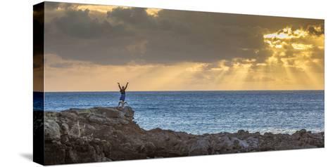 Sunset at Kawakiu Nui on Molokai's West End-Richard A^ Cooke-Stretched Canvas Print