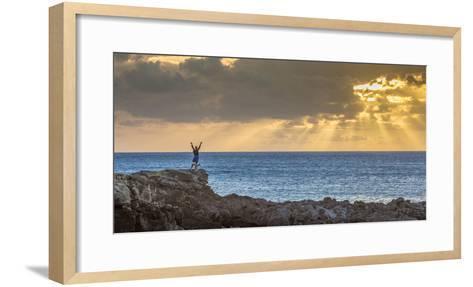 Sunset at Kawakiu Nui on Molokai's West End-Richard A^ Cooke-Framed Art Print