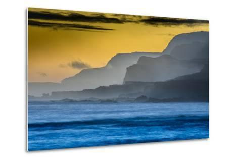 Molokai's North Shore Sea Cliffs at Sunrise-Richard A^ Cooke-Metal Print