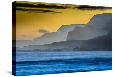 Molokai's North Shore Sea Cliffs at Sunrise-Richard A^ Cooke-Stretched Canvas Print