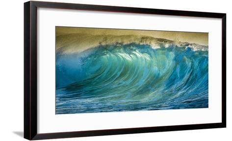 A Wave Breaks at Papohaku Beach on Molokai's West End-Richard A^ Cooke-Framed Art Print