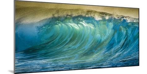 A Wave Breaks at Papohaku Beach on Molokai's West End-Richard A^ Cooke-Mounted Photographic Print