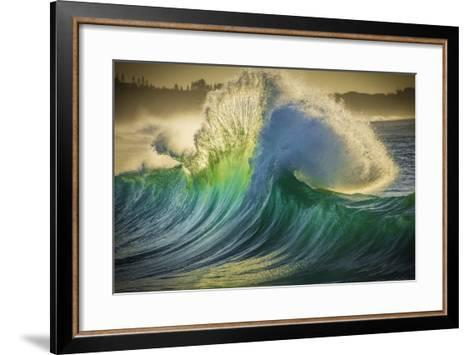 A Wave Breaks at Papohaku Beach on Molokai's West End-Richard A^ Cooke-Framed Art Print