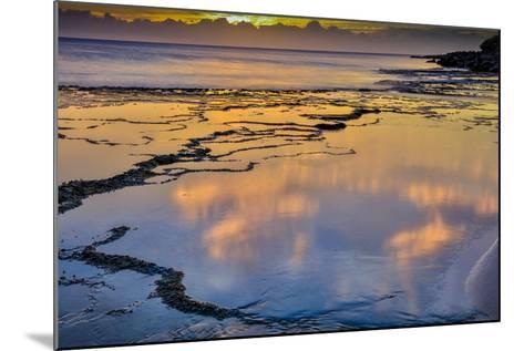 Sunset Above Low Tide Pools at Kawakiu Nui Beach on Molokai's West End-Richard A^ Cooke-Mounted Photographic Print