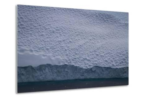 Dappled Surface of an Iceberg Off Cierva Cover-David Griffin-Metal Print