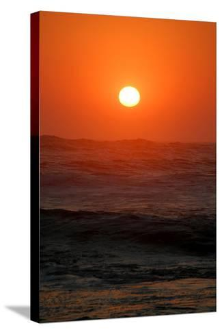 Sunset over the Ocean, Swakopmund Town, Namibia-Anne Keiser-Stretched Canvas Print