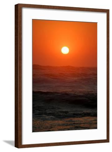 Sunset over the Ocean, Swakopmund Town, Namibia-Anne Keiser-Framed Art Print
