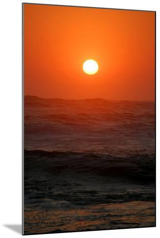 Sunset over the Ocean, Swakopmund Town, Namibia-Anne Keiser-Mounted Photographic Print