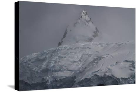 Glacier and Mountain in Cierva Cover-David Griffin-Stretched Canvas Print