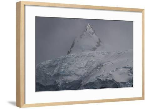 Glacier and Mountain in Cierva Cover-David Griffin-Framed Art Print