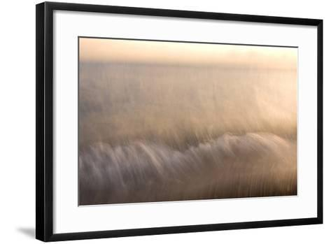 Waves on the North Shore of Yellowstone Lake in Yellowstone National Park-Philip Schermeister-Framed Art Print