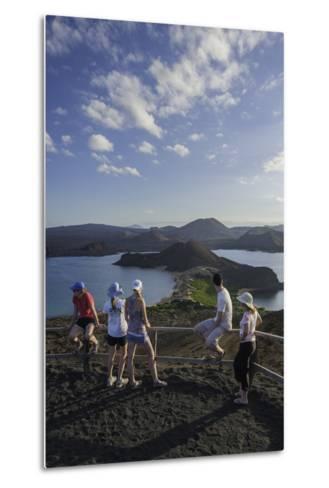 Tourists Viewing the Coast of Bartolome Island-Jad Davenport-Metal Print