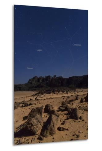 Stars of Constellation Centaurus, Lupus and Norma Appear Above Sandstone Cliffs-Babak Tafreshi-Metal Print